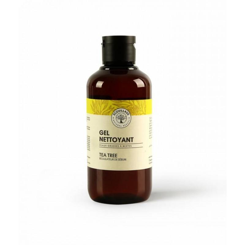 gel nettoyant pour le visage, tea tree régulateur de sébum et Hydratant