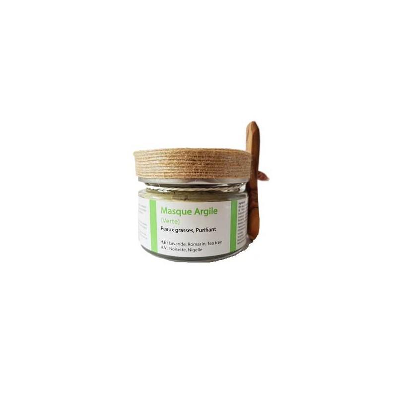 Masque d'argile verte pour peaux grasses