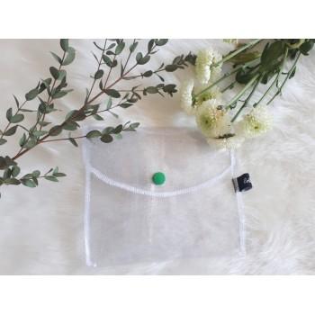 Pochette à savon transparente à paillettes