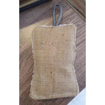 éponge en toile de jute en coton fait main