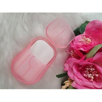 Feuilles de savon portable à la rose