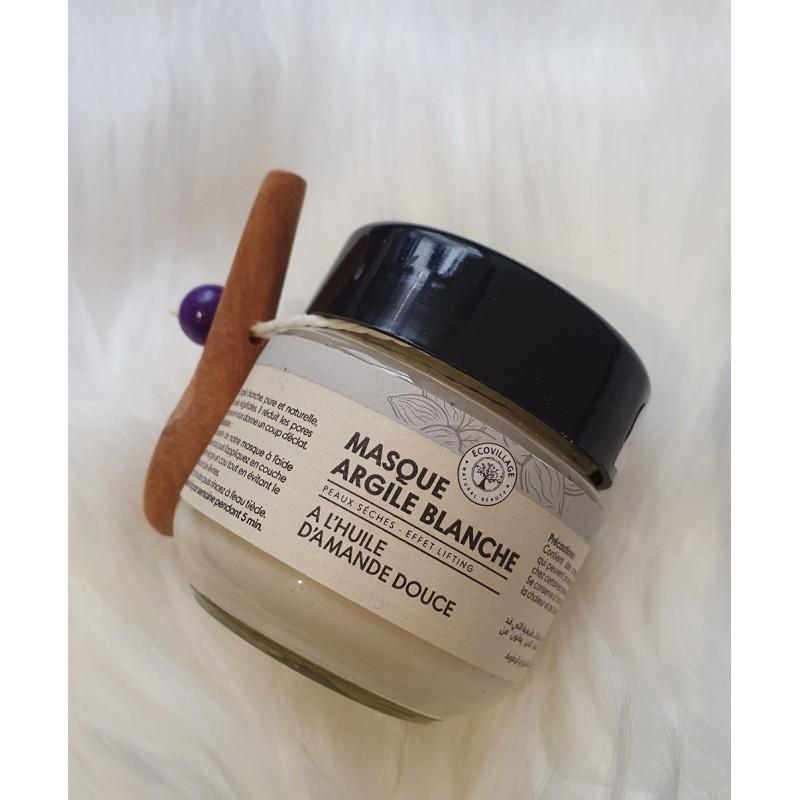 Masque d'argile blanche pour peaux sèches