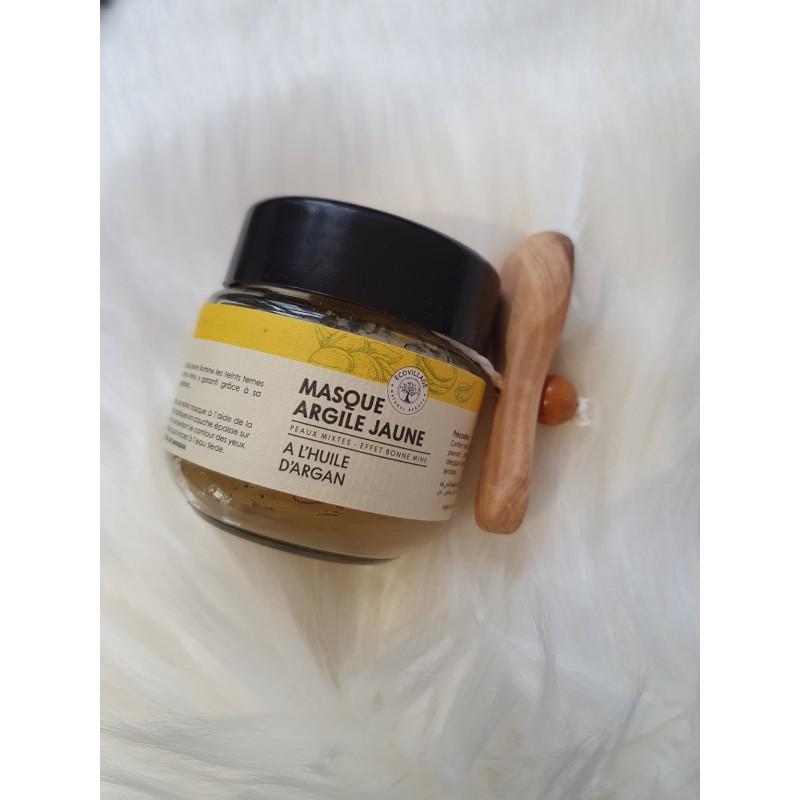 Masque d'argile jaune pour peaux mixtes